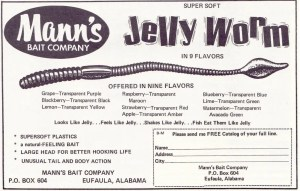 Another 1969 Mann's Bait Company Jelly Worm ad.