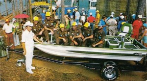 The 1975 Federation Championship was won by the Louisiana State team on Clark Hill Reservoir with 92-02 over three days. Nash Roberts III won the berth into the 1975 Bass Masters Classic.