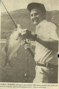 George Kramer with a nice spinnerbait fish.
