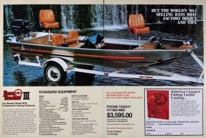 By 1980 Bass Pro Shops had three different models of their popular Bass Tracker.