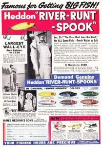 1940 ad for the Heddon River Runt.