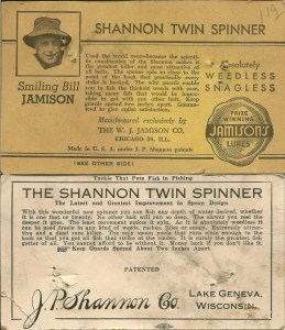 Bait cards from the Shannon Lures of Bill Sonnett. Notice the prices and descriptions. Photos Bill Sonnett.