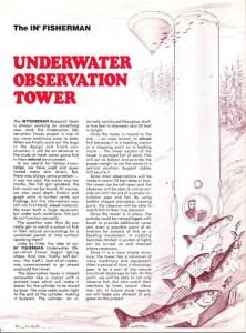 A presumed Al Lindner down in the proposed observation tower taking notes.