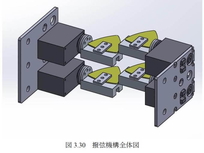 ベース自動演奏ロボット「MUBOT」のピッキング機構