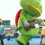 ベースが弾けるゆるキャラの志木市公式キャラクターのカパル