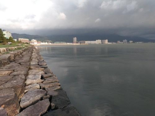 琵琶湖の浜大津エリア