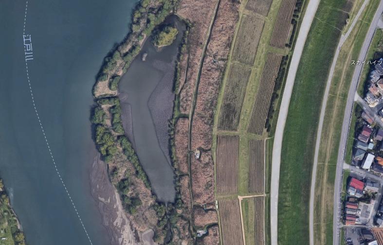 【ポイントマップ】千葉県松戸側の江戸川 野池とおススメルアー【バス釣り】