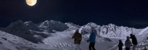 Engadin St. Moritz, guarda che luna…