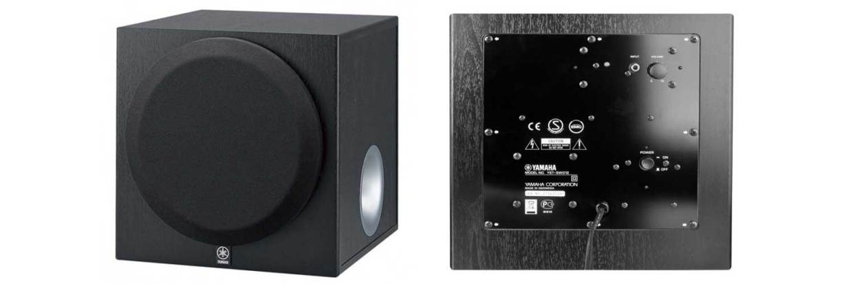 yamaha yst sw012, sw012 subwoofer, home theater subwoofer, home subwoofer, 8 inch subwoofer