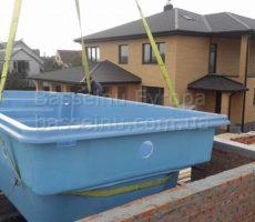 Строительство бассейна из композита в доме в Киеве фотография 14.