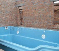 Строительство бассейна из композита в доме в Киеве фотография 15.
