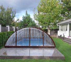 Строительство крытого бассейна из композита на участке в Киеве фотография 18.