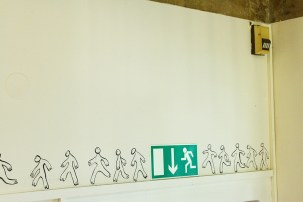 Cairo Headlines: Walking Towards A Future (detail).