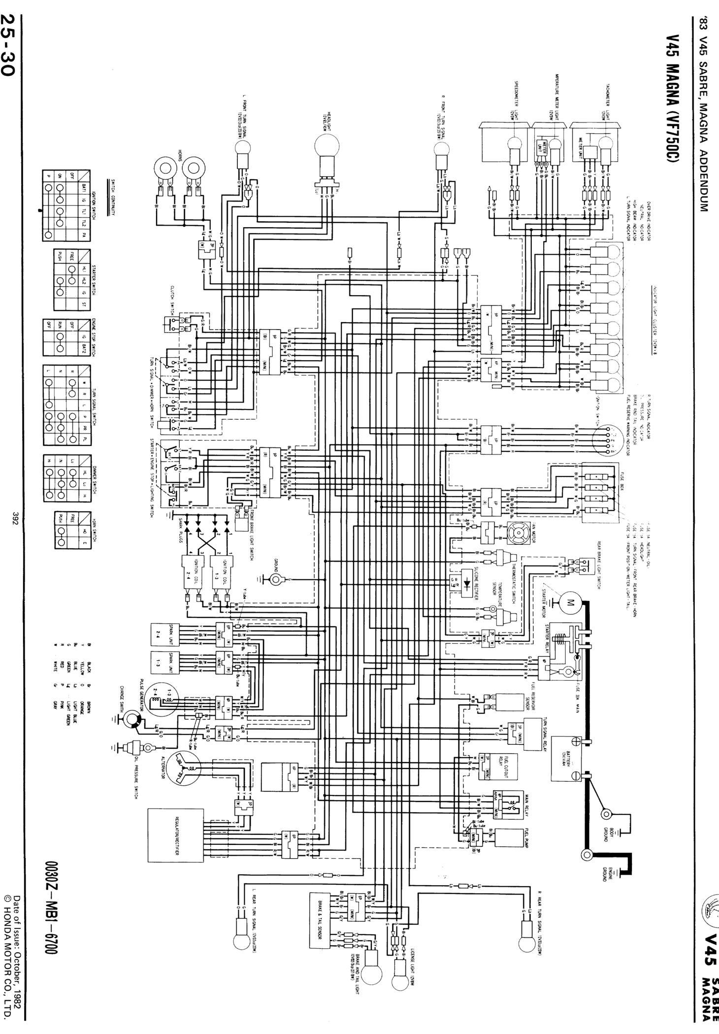 1984 honda magna v45 wiring diagram schematic