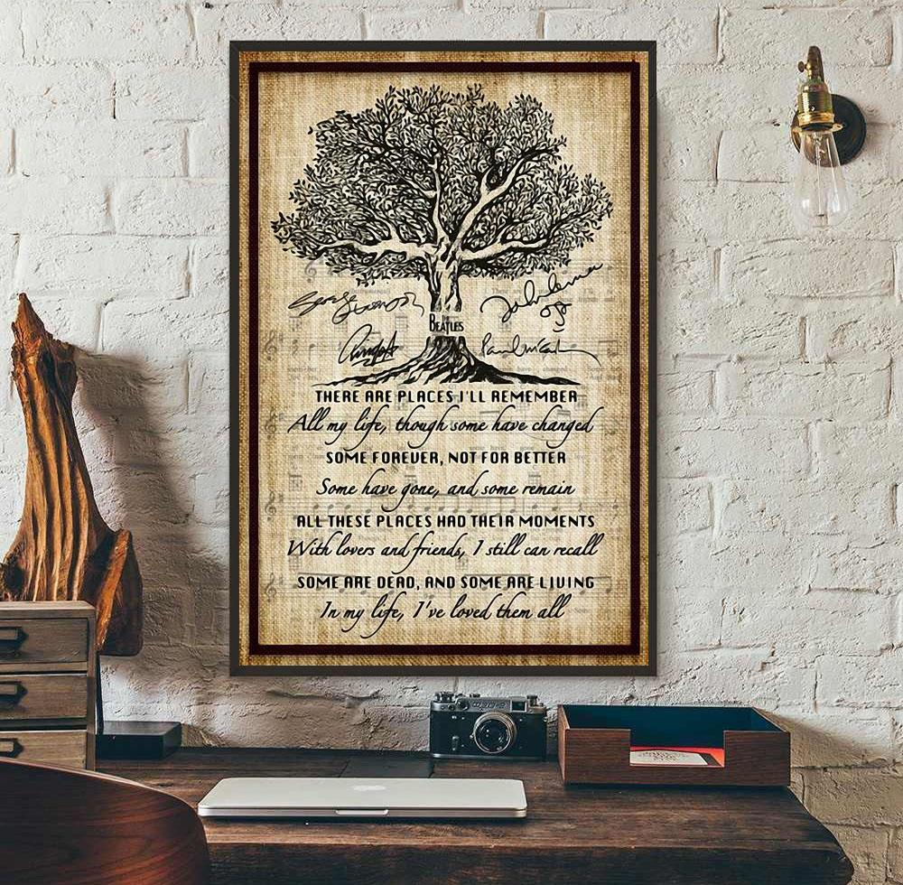 the beatles in my life lyrics song canvas