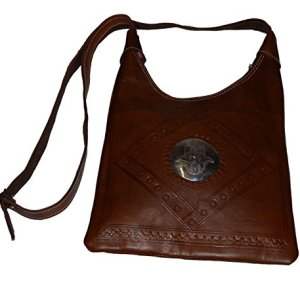 Moroccan Bags and Purses Hand Made Leather Shoulder Bag Dark Chocolate