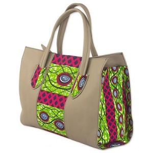 Cotton Shoulder Bag with Adinkra Motifs from Ghana, 'Adinkra Eyes'