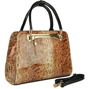 Women's Fashion Exotic Leopard Print Shoulder Bag Top-Handle Handbag