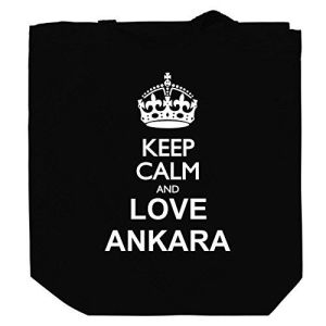 Keep calm and love Ankara Canvas Tote Bag