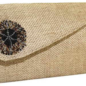 Nala Clutch Purse | Beige