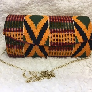 multi-color-kente-print-hard-body-clutch-purse-plus-chain-strap