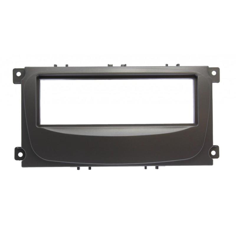 Переходная рамка для Ford Focus 2 (Sony), S-MAX 07+, Mondeo 07+, серебро (1 din)