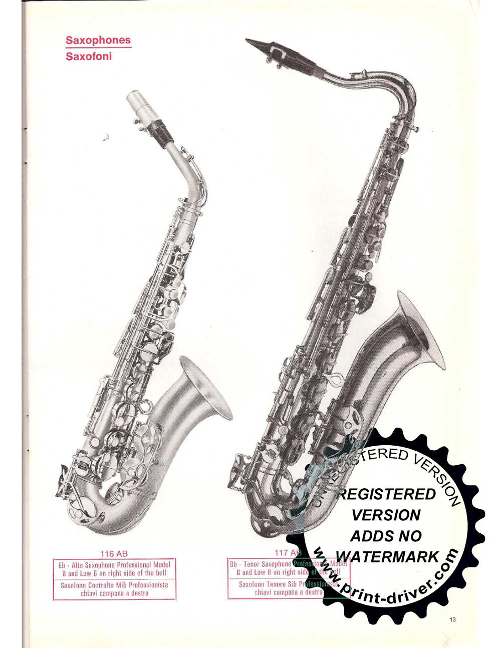 Vintage Orsi Catalogue | The Bassic Sax Blog