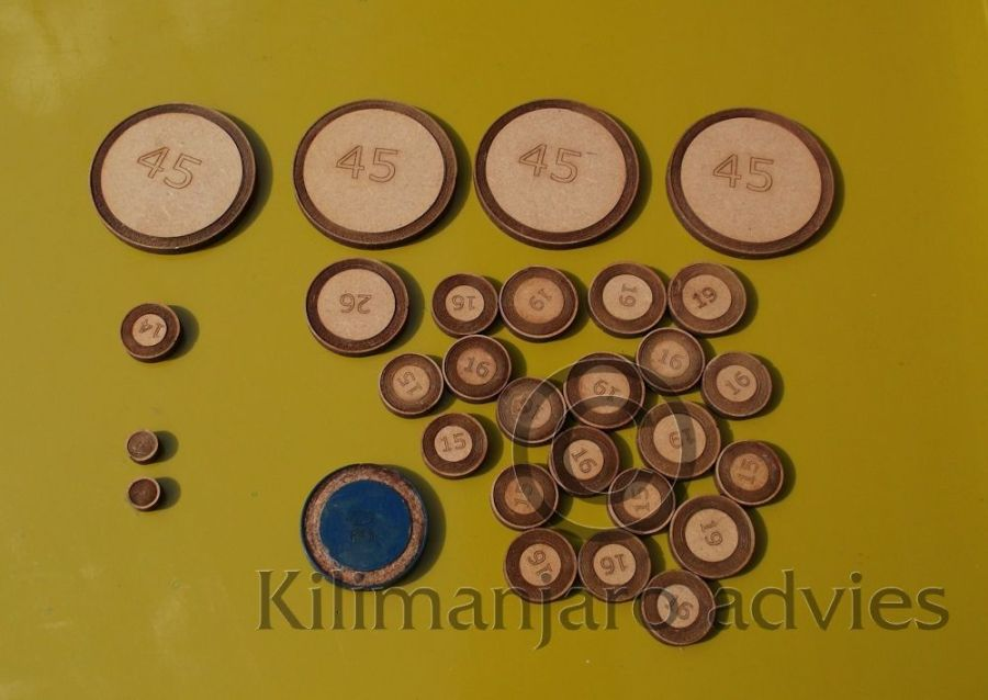 saxophone pads, wooden disks, MDF, different size pads, new invention,