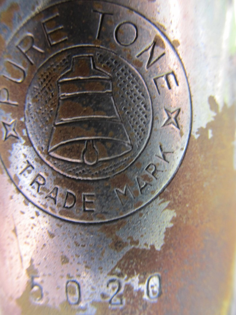 Johannes Adler alto sax, saxophone, Max Keilwerth-made stencil sax, silver-plated, Pure Tone Trade Mark logo