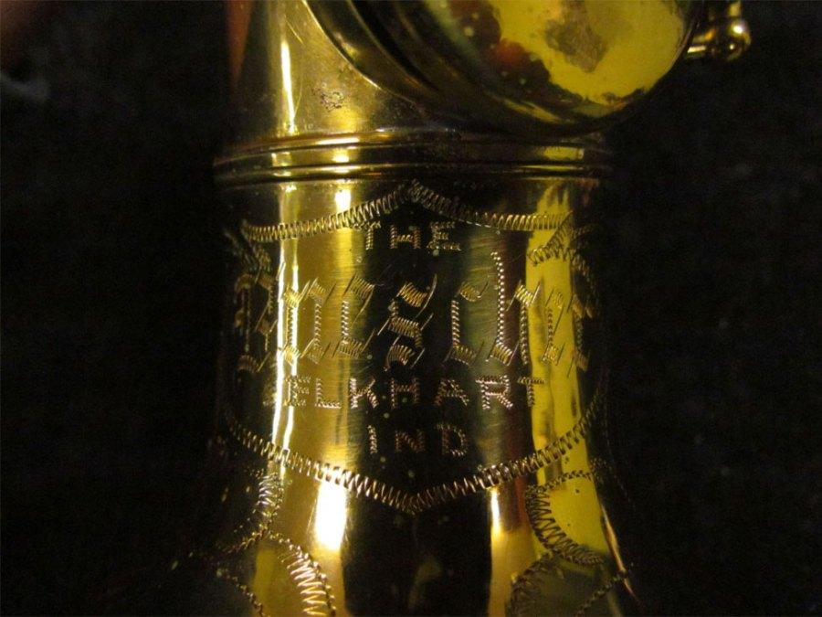 soprano sax, bell engraving, Tipped Bell Buescher True Tone soprano, vintage saxophone, rare sax
