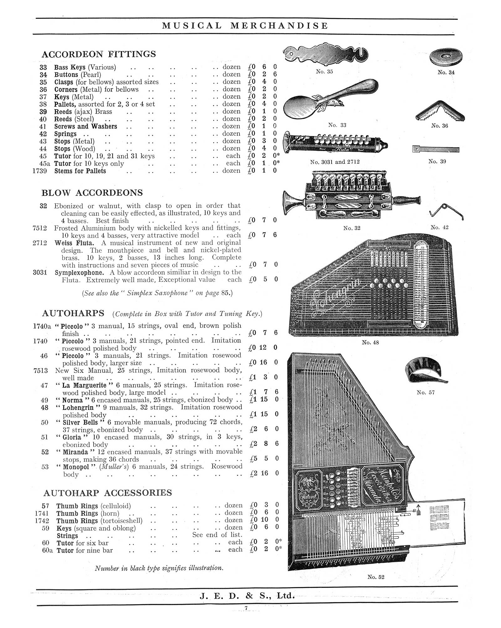 Original Catalogue Pages Of Sax Shaped Things