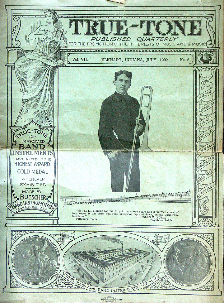 July 1909 Edition of the Buescher Journal True-Tone | The Bassic Sax