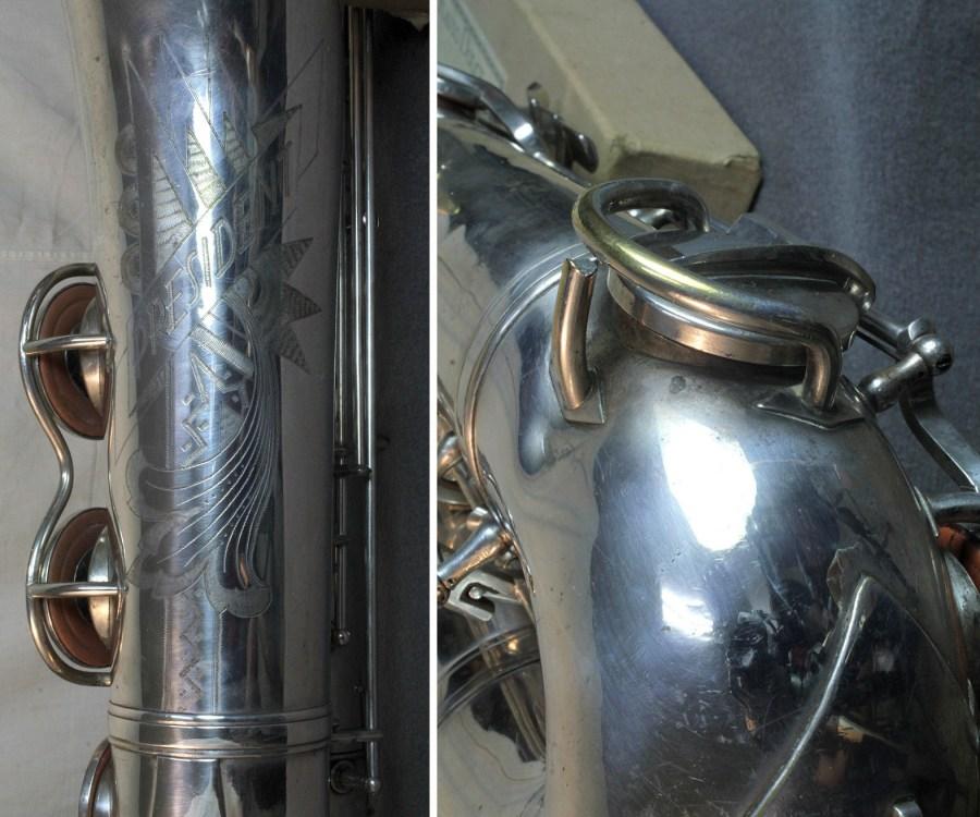 Max Keilwerth-made President, President tenor sax, tenor saxophone, saxophone bell engraving, sax key guard