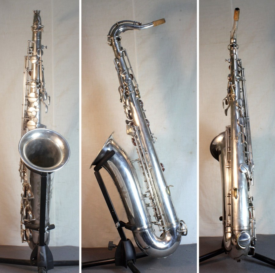 Max Keilwerth-made President, President tenor sax, tenor saxophone, silver sax