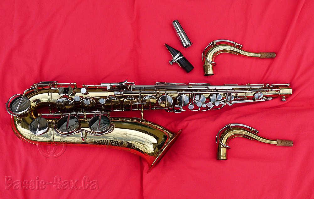 Hohner President, tenor saxophone, sax necks, mouthpiece, ligature, mouthpiece cap
