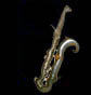 bass saxophone, thumbnail image, distorted, black background