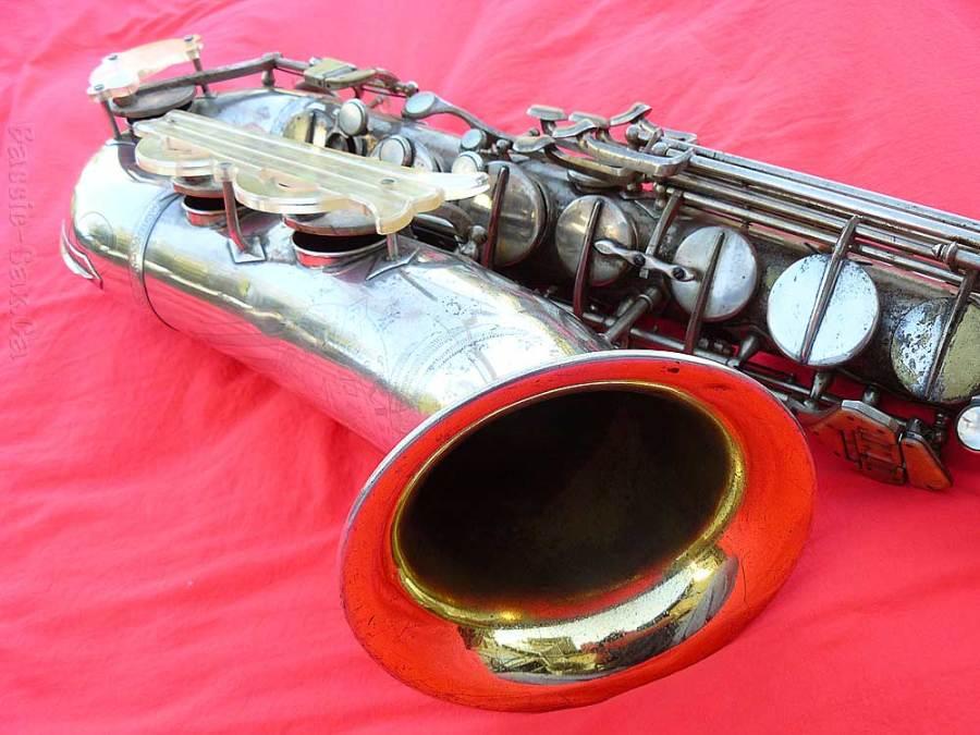 saxophone, sax bell, Klingsor tenor, Hammerschmidt, silver saxophone, gold wash bell