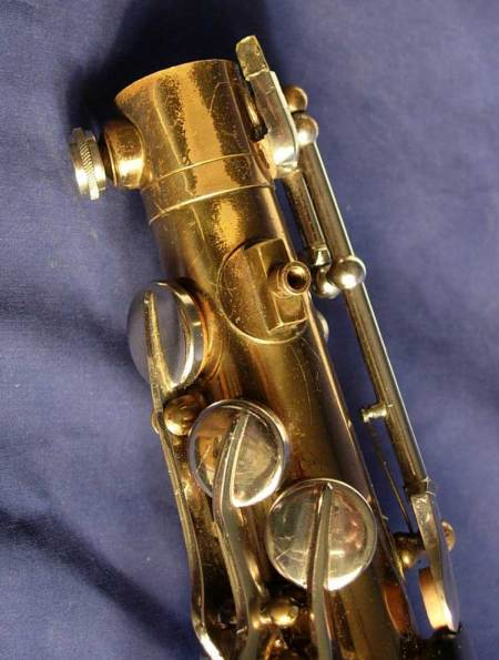 saxophone, neck fastening screw, floating lever, Dörfler & Jörka