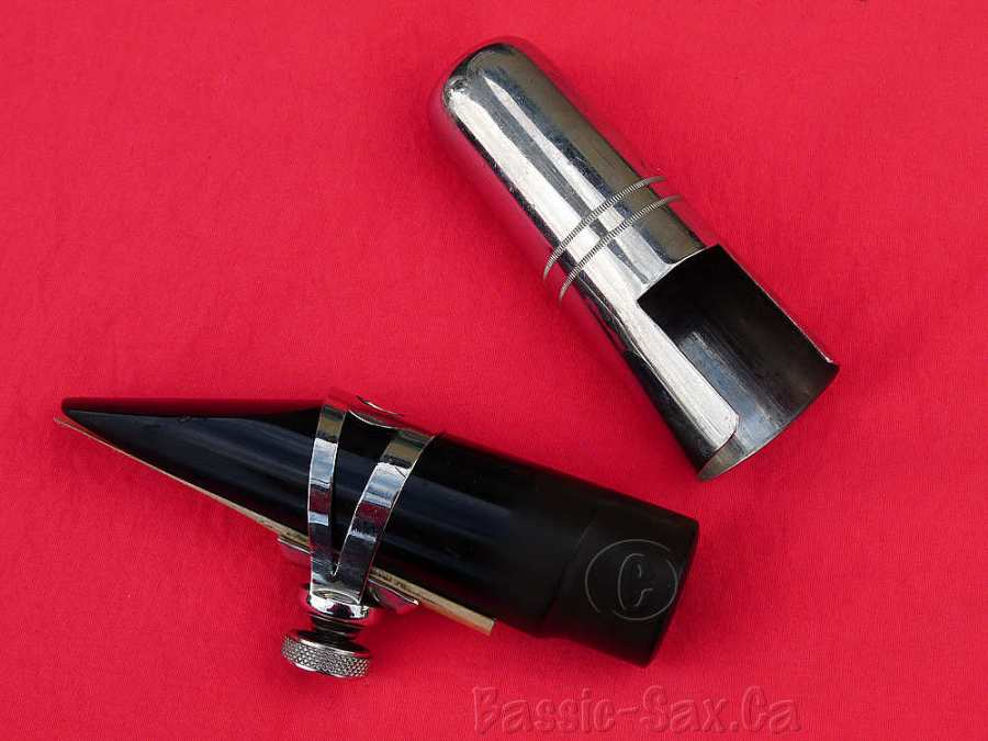 tenor sax mouthpiece, cap, & ligature, original Hohner President accessories,