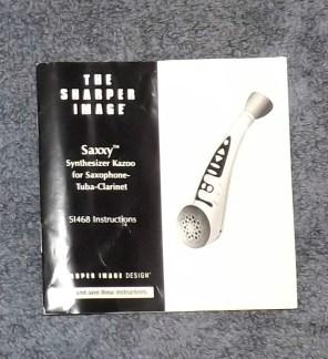 Saxxy Kazoo instruction manual