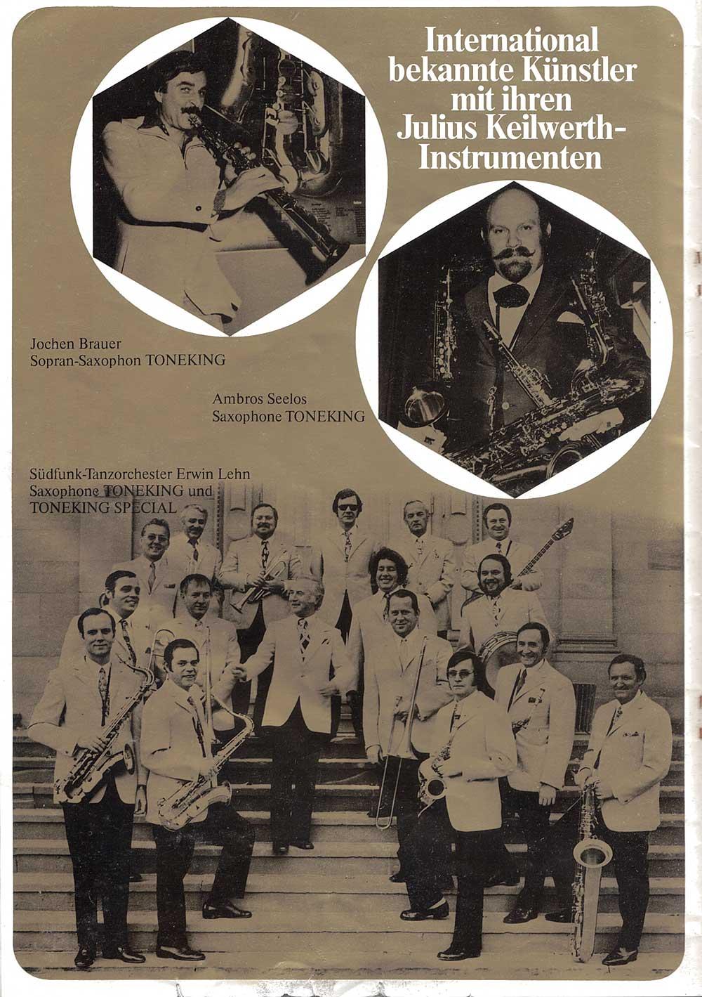 Julius Keilwerth, vintage catalogue, 1979, page 11,  black, gold