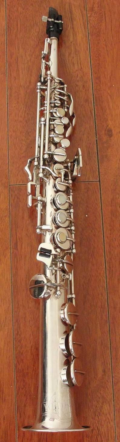 Weltklang, soprano sax, vintage, East German saxophone, silver plated