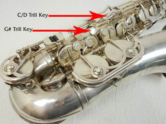 alto saxophone, sax keys, silver plated,