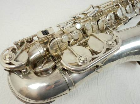 alto saxophone, sax keys, silver plated, vintage German, DDR, Weltklang