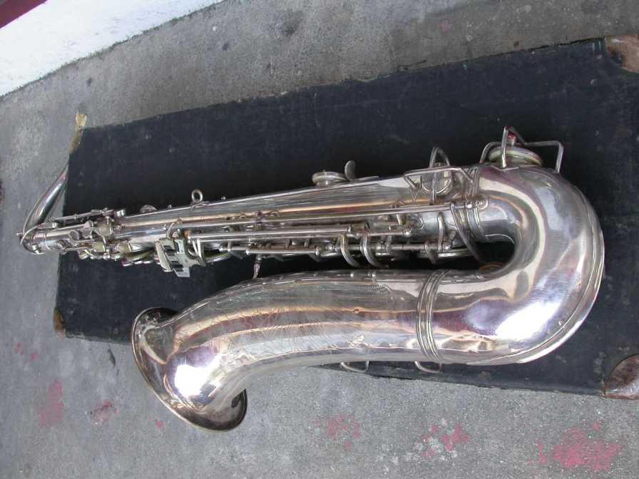 tenor saxophone, vintage, German, DDR, Weltklang, silver plated
