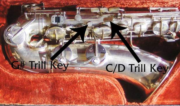 saxophone keys, mother of pearl key touches, Weltklang, vintage, German, sax, DDR