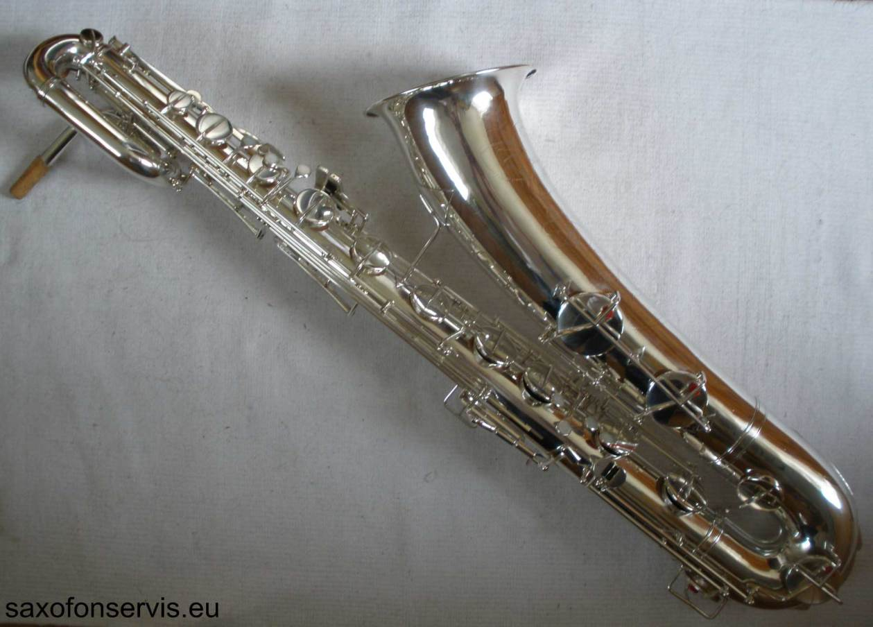 F. Köhler, baritone saxophone, bari sax, vintage sax, silver sax,