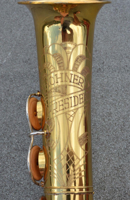 Hohner President, tenor sax, vintage sax, German sax, Max Keilwerth, saxophone, bell engraving,