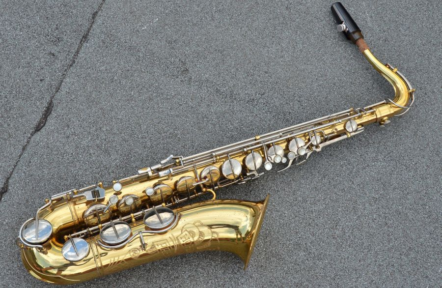 Hohner President, tenor sax, vintage sax, German sax, Max Keilwerth, saxophone, lacquer horn with nickel plated keys