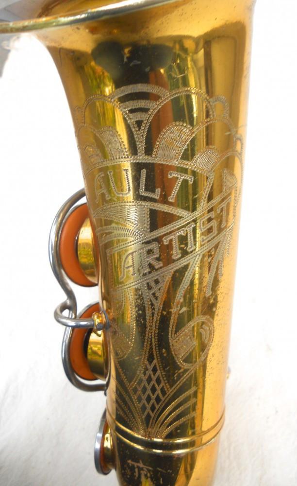 Ault Artist, alto sax, vintage sax, German sax, Max Keilwerth, saxophone, bell engraving